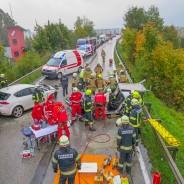 Frontal Crash auf Aschacher Brücke