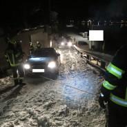 Fahrzeugbergung bei winterlichen Bedingungen