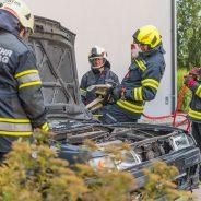 technische Übung mit hydr. Rettungsgerät