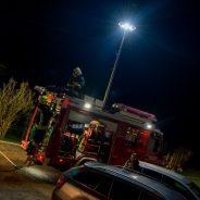 Herbstübung – Brand Gefahrenstoff, Holzhütte
