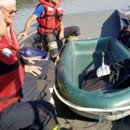 Bootsbergung auf Donau